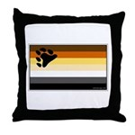 Bear Pride Flag Throw Pillow