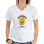 Hawaii Office of Narcotics En Women's V-Neck T-Shi