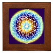 Cute Symmetric arts Framed Tile