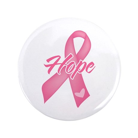 "Hope Breast Cancer 3.5"" Button (100 pack)"