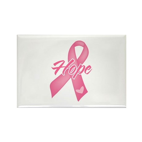 Hope Breast Cancer Rectangle Magnet (100 pack)