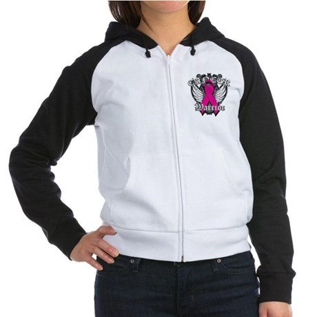 Breast Cancer Warrior Women's Raglan Hoodie