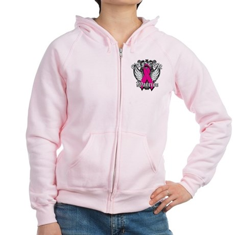 Breast Cancer Warrior Women's Zip Hoodie