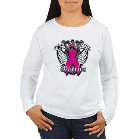 Breast Cancer Warrior Women's Long Sleeve T-Shirt