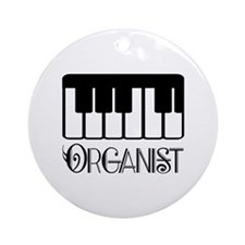 Classical Organist Ornament (Round)