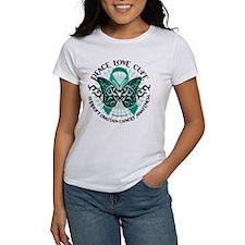 Ovarian Cancer Tribal Butterf Tee