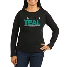 Ovarian Cancer THINK TEAL T-Shirt