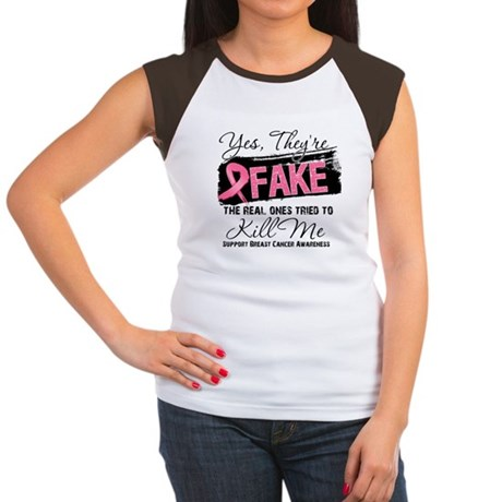 Fake - Breast Cancer Women's Cap Sleeve T-Shirt