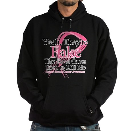 Fake 2 - Breast Cancer Hoodie (dark)