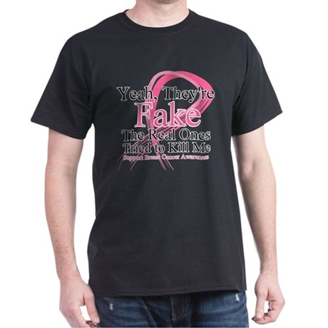 Fake 2 - Breast Cancer Dark T-Shirt