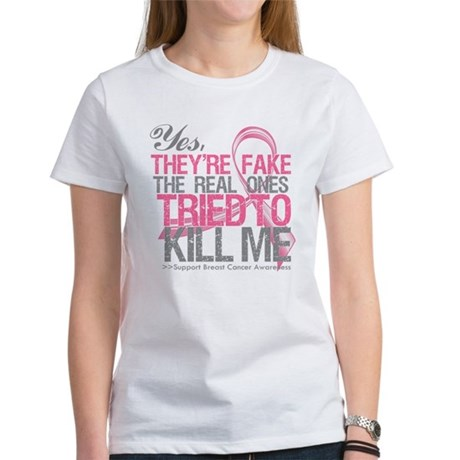 Fake 2 - Breast Cancer Women's T-Shirt