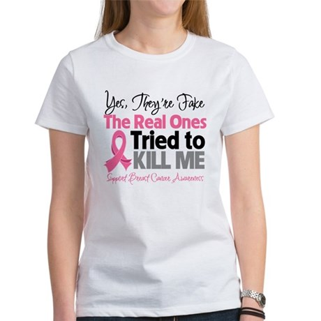 Breast Cancer Fake Women's T-Shirt