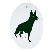 Tripawds Three Legged GSD Ornament (Oval)