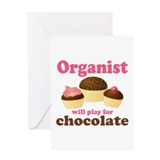 Funny Chocolate Organist Greeting Card