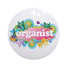 Organ Retro Organist Ornament (Round)