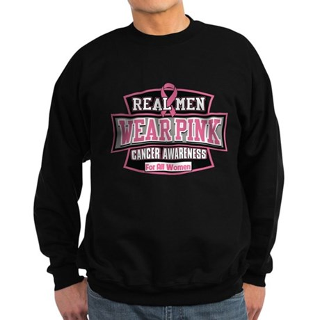 Real Men Wear Pink Sweatshirt (dark)