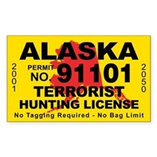 Alaska terrorist hunting license sticker for for Alaska fishing license