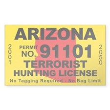 Arizona Terrorist Hunting License Decal