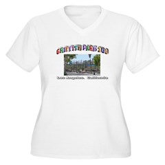 Griffith Park Zoo Women's Plus Size V-Neck T-Shirt