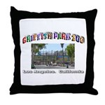 Griffith Park Zoo Throw Pillow