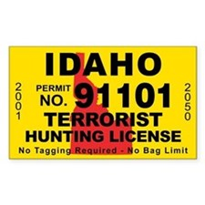 Idaho Terrorist Hunting License Decal