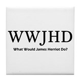 What Would James Herriot Do? Tile Coaster