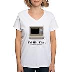 I'd Hit That Women's V-Neck T-Shirt