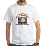 Long Beach Drive In Theatre White T-Shirt