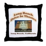 Long Beach Drive In Theatre Throw Pillow