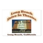 Long Beach Drive In Theatre Postcards (Package of