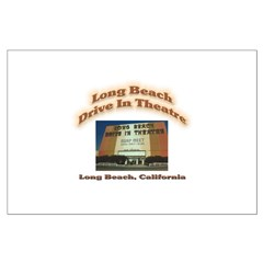 Long Beach Drive In Theatre Large Poster