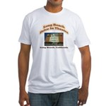 Long Beach Drive In Theatre Fitted T-Shirt
