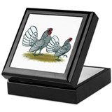 Sebright Silver Bantams Keepsake Box