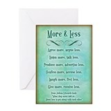 More & Less Greeting Card