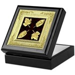 Keepsake Box - Gold Leaves