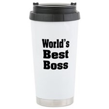 World's Best Boss Ceramic Travel Mug