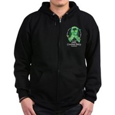 Cerebral Palsy Ribbon of Butt Zipped Hoodie