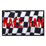Race Fan Rectangle Decal