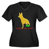 Tripawds Rule Front Leg GSD Women's Plus Size V-Ne