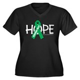 Cerebral Palsy Hope Women's Plus Size V-Neck Dark