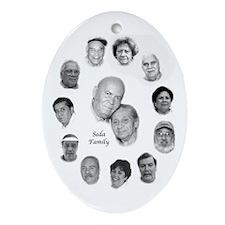 Seda Family Oval Ornament