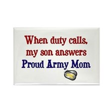 When Duty Calls - Mom Rectangle Magnet