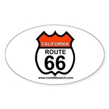 California Route 66 Oval Decal