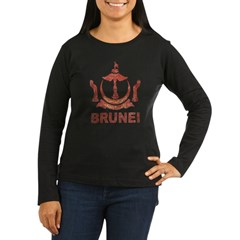 Vintage Brunei Women's Long Sleeve Dark T-Shirt