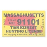 Massachusetts Terrorist Hunting License  Aufkleber