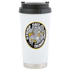 Stomp Out Childhood Cancer Ceramic Travel Mug
