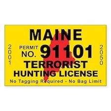 Maine Terrorist Hunting License Decal
