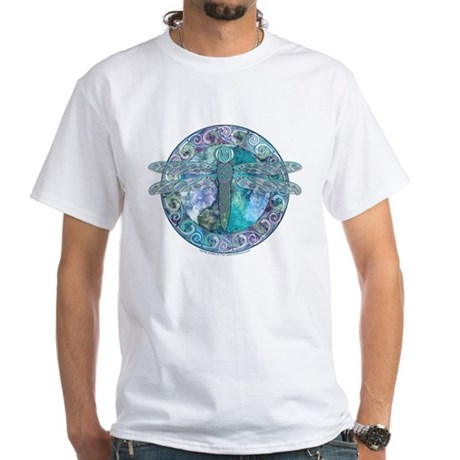 Cool Celtic Dragonfly White T-Shirt
