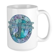 Cool Celtic Dragonfly Coffee Mug