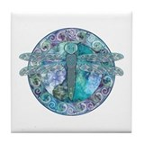 Cool Celtic Dragonfly Tile Coaster